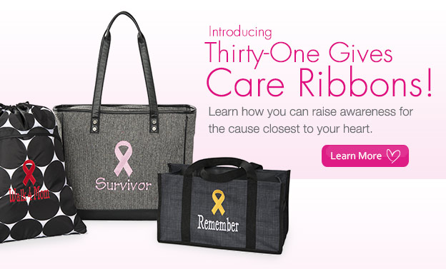 Introducing Thirty-One Gives Care Ribbons!
